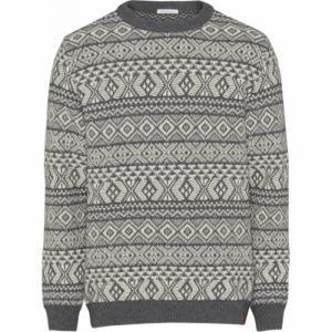Pull jacquard gris en coton bio et laine - Knowledge Cotton Apparel
