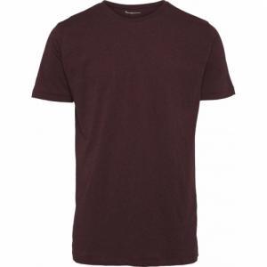 T-shirt bordeaux en coton bio - Knowledge Cotton Apparel