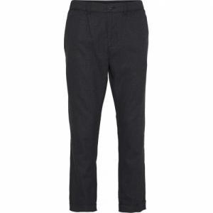 Pantalon à carreaux gris en tencel et coton bio