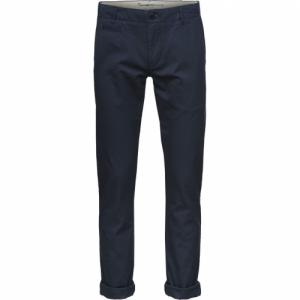 Pantalon chino marine en coton bio - chuck