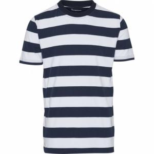 T-shirt rayé en coton bio - Knowledge Cotton Apparel