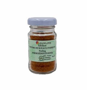 Exfoliant poudre de noyaux d'abricots bio
