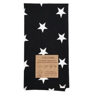 Furoshiki (emballage cadeau) Noir motif étoiles