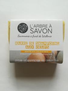 Barre de savon-shampoing aux œufs