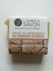 Barre de savon-shampoing à l'argile