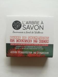 Barre de savon-shampoing au chanvre et ricin