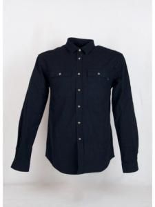 Trucker Shirt - Navy-Red - Maison Labiche