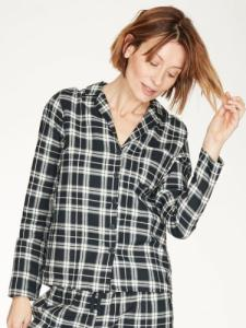 Haut de pyjama femme à carreaux