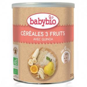 Céréales 3 fruits dès 6 mois