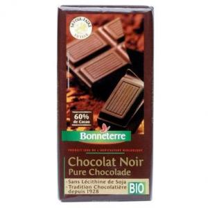 Chocolat noir bio 60 % cacao