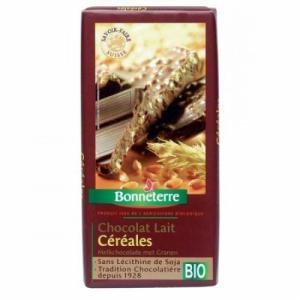 Chocolat lait céréales bio