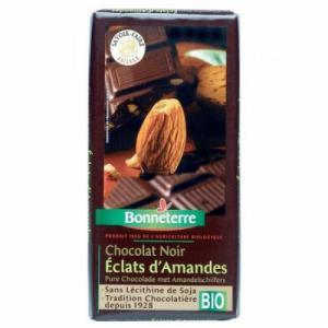 Chocolat noir bio éclats d'amandes