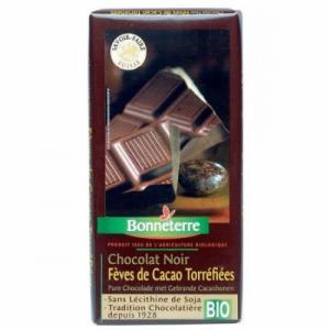 Chocolat noir fèves de cacao bio