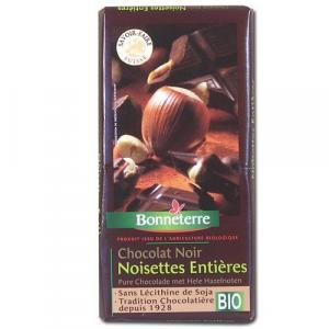 Chocolat noir noisettes entières bio