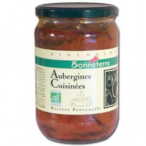 Aubergines cuisinées bio
