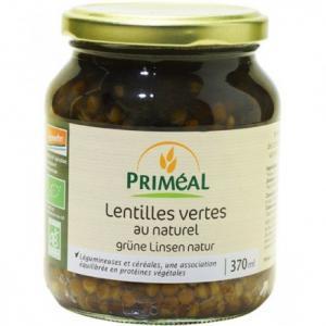 Lentilles vertes au naturel bio