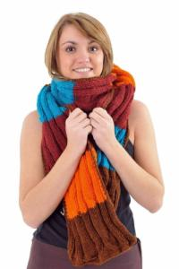 Echarpe pure laine douce multicolore