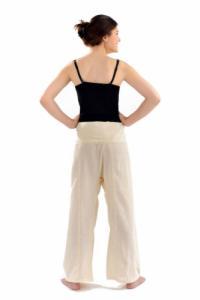Pantalon pecheur Thai couleur creme
