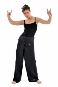 Pantalon pecheur thailande noir uni