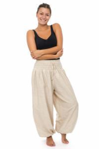 Pantalon elastique bouffant epais chanvre Kalinko