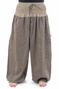 Pantalon sarouel grande taille mixte natural