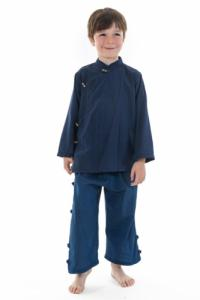 Chemise enfant ethnique bleu Bacca