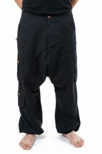 Pantalon sarouel baggy droit homme femme noir uni Sarul