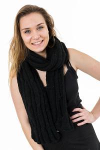 Echarpe pure laine douce noire