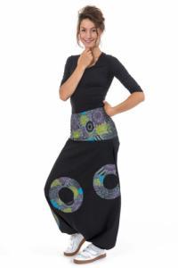 Sarwel noir elastique multicolore Sahari