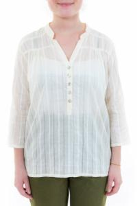 Blouse femme broderies et boutons nacre