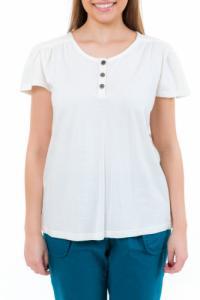 T-shirt femme manches courtes jersey ecru
