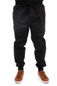 Pantalon style jogging jean noir Bagha