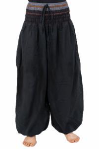Pantalon saroual bouffant noir sari brillant Kevah personnalisable