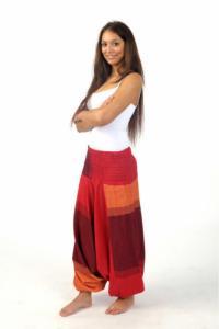 Sarouel homme femme élastique rouge Sanjeevani personnalisable