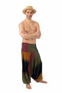 Sarouel homme femme élastique teufer Mahabharat personnalisable