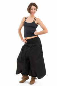 Pantalon sarouel femme style jupe noire personnalisable