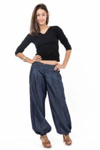 Pantalon denim street chic Nidana personnalisable