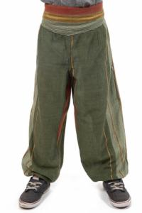 Pantalon aladin enfant green indian sari
