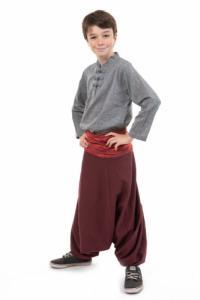 Sarouel enfant ceinture plissee elastique Bakah