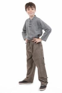 Pantalon large japonais enfant zen