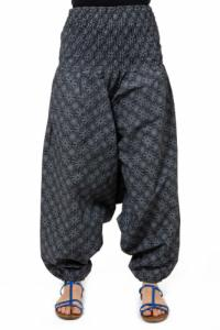 Sarouel elastique smoke noir et gris boheme