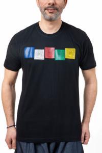 Tee shirt homme drapeaux de prière Himalaya