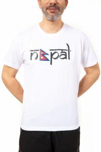 T-shirt homme drapeau Népal