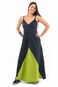 Robe longue acid green princesse