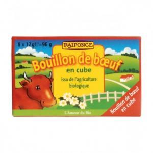 Bouillon de boeuf bio en cube