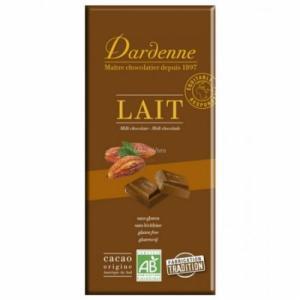 Chocolat au lait écrémé bio sans gluten