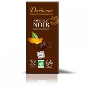 Chocolat noir 70% da cacao bio sans gluten