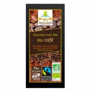 Chocolat noir au café bio