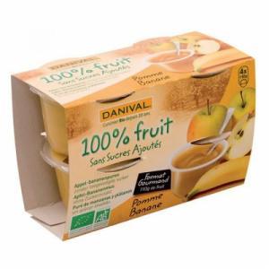 Dessert de fruit Pomme banane bio