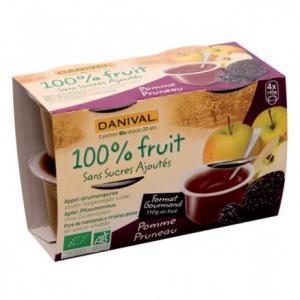 Dessert de fruit Pomme Pruneau bio